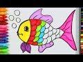 Download Balık Çizimi Nasıl Yapılır? 💦 | Balık Nasıl Çizilir? | Balık Renklendirme Sayfası | Boyama Öğrenme Video