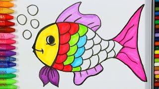 Download Balık Çizimi Nasıl Yapılır? 💦   Balık Nasıl Çizilir?   Balık Renklendirme Sayfası   Boyama Öğrenme Video