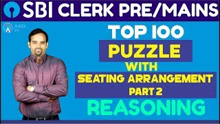 Download SBI CLERK PRE / MAINS 2018 | Top 100 Puzzle with Seating Arrangement (Part-2) | Reasoning Video