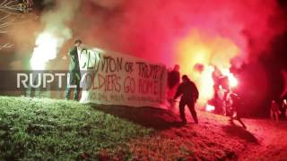 """Download Italy: """"Clinton or Trump? Soldiers go home!"""" demand protesters at US army base Video"""