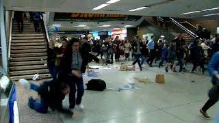 Download 16 injured in Penn Station stampede Video