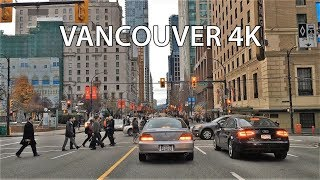 Download Driving Downtown - Vancouver Canada 4K Video