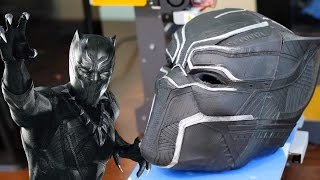 Download 3D Printed BLACK PANTHER Mask - Replica Prop Cosplay Video
