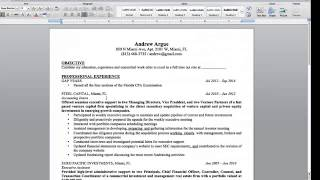 Download ″What Should Be Included in My Big 4 Accounting Resume″ with @AndrewArgue Video