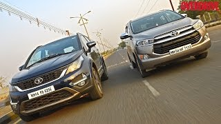 Download Toyota Innova Crysta vs Tata Hexa - Comparative Review Video
