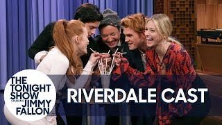 Download The Cast of Riverdale and Jimmy Kick Off the Riverdale Milkshake Challenge Video