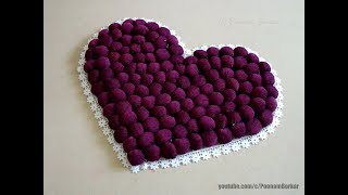 Download DIY - Door Mat from old clothes   Heart shaped table mat / floor mat   Step by step tutorial Video
