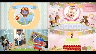 Download Children Video Memory Album Slideshow And Birthday Invitation - After Effects Royalty free template Video