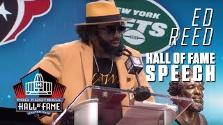 Download Ed Reed FULL Hall of Fame Speech | 2019 Pro Football Hall of Fame | NFL Video