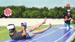 Download Nerf Slip and Slide Battle | Dude Perfect Video