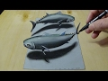 Download 3D Drawing Tuna Fish - How to Draw Tuna Fish -Trick Art on Paper Video