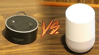 Download GOOGLE HOME vs AMAZON ECHO DOT COMPARISON! (SPEED TEST, UNBOXING & FEATURES) [MUST HAVE FOR A HOME] Video