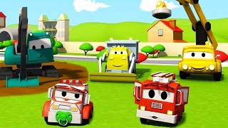 Download Construction Squad: the Dump Truck, the Crane and the Excavator and the Car Wash in Car City Video