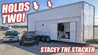 Download We Bought a Used 2-Car STACKER Trailer! Introducing ″Stacey the Stacker″ (SHE'S TALL!) Video
