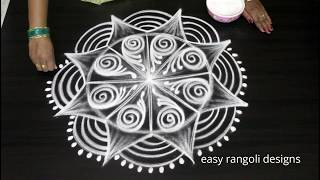 Download Freehand beautiful & creative Padi kolam by easy rangoli designs || Sankranthi muggulu Video