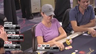 Download Nichoel Jurgens goes for Max Value on a Scary Runout ♠ Live at the Bike! Hand of the Night Video