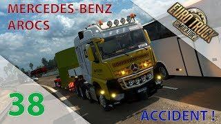 Download [Euro Truck Simulator 2] Episode n°38 : Mercedes-Benz Arocs + Accident sur l'autoroute ! Video