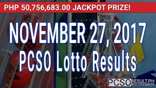 Download PCSO Lotto Results Today November 27, 2017 (6/55, 6/45, 4D, Swertres & EZ2) Video