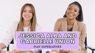 Download Gabrielle Union and Jessica Alba Reveal Who's Most Likely to Break Character and More | Superlatives Video