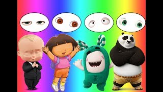 Download Colors for children Wrong Eyes Bad Baby Boss BaBy Dora Masha Panda Oddbods Family Song Video