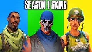 Download ALL SEASON 1 SKINS in FORTNITE! SEASON 1 SKINS SHOWCASE - Fortnite Battle Royale Video
