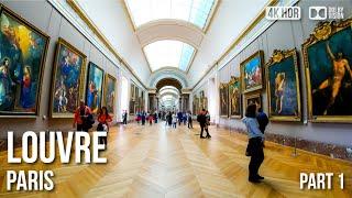 Download Inside Louvre Museum Paris, Mona Lisa - (Part 1) 🇫🇷 France - 4K Virtual Tour Video