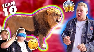 Download ESCAPED WILD LION PRANK IN TEAM 10 MANSION.. {SCARY} Video