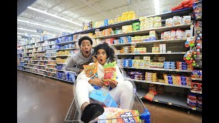 Download CRAZY GROCERY SHOPPING WITH DK4L | VLOGMAS DAY 6 Video