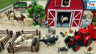 Download Farm Animal Toys in the sandbox - Fun Toy Animals For Kids Video