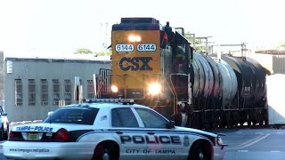 Download CSX Street Runner Train Blows Horn Over 100 Times Through City Video