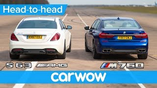 Download Mercedes-AMG S63 vs BMW M760 - DRAG RACE, ROLLING RACE & BRAKE TEST | Head-to-Head Video