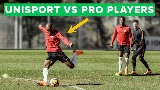 Download EPIC football Challenge & forfeit vs pro players - can we beat them? Video