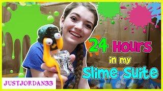 Download 24 HOURS In My BOX FORT SLiME SUiTE / JustJordan33 Video
