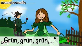 Download Grün, grün, grün sind alle meine Kleider - Kinderlieder zum Mitsingen   Kinderlieder deutsch Video