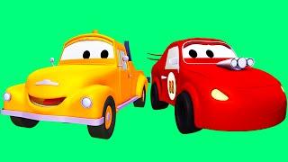 Download سيارة سباق و سباق السيارات الزرقاء و توم شاحنة الجر| رسوم متحركة للأطفال في مجال الإنشاءات ″ شاحنا Video