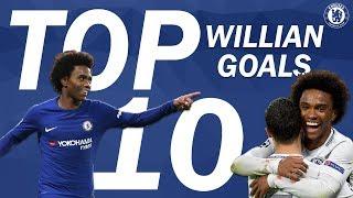 Download Top 10 Incredible Willian Goals | Chelsea Tops Video