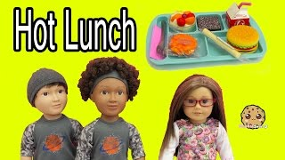 Download My Life As School Boy Dolls + American Girl Hot Lunch Tray Food Set - Toy Review Video