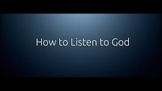 Download How To Hear The Voice of God Almighty - Jesus Christ - Listen To The Holy Spirit Video