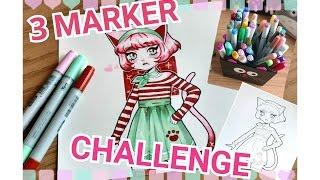 Download [Apple Challenge #1]    3 MARKER CHALLENGE! Video