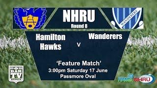 Download 2017 NHRU Round 8 Hamilton Hawks v Wanderers Video