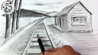 Download Como Dibujar un Paisaje en Perspectiva de Un Punto muy Facil y Paso a Paso Video