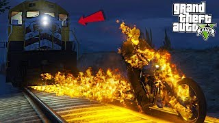 Download GHOST RIDER BURNS TRAIN - GTA 5 Mods Video