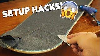 Download 5 AWESOME Skateboard Setup Hacks! Video