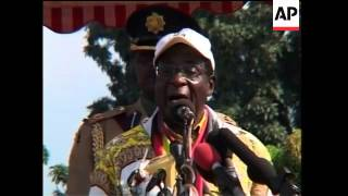Download Thousands hear Mugabe speak at Zanu-PF election rally Video