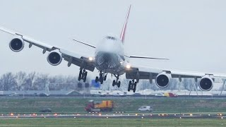 Download Dangerous CROSSWIND LANDINGS during a STORM at Amsterdam Schiphol - Boeing 747, Airbus 380 ... Video