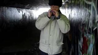 Download Katyusha - harmonica in the tunnel Video