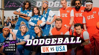 Download Team USA v. Team UK - Dodgeball w/ Michelle Obama, Harry Styles & More - #LateLateLondon Video