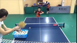Download 10 years & 7 years old table tennis training Video