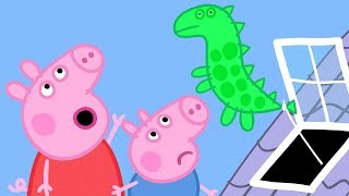 Download Peppa Pig Official Channel | Peppa Pig And George Pig Chasing Dinosaur Balloon Video