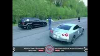 Download JEEP SRT8 VS R8 V10 + NISSAN GTR + X6M Video